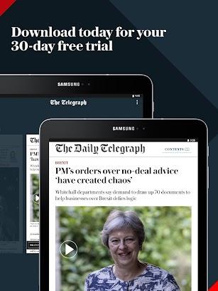 Telegraph Newspaper App – World & UK News screenshot for Android