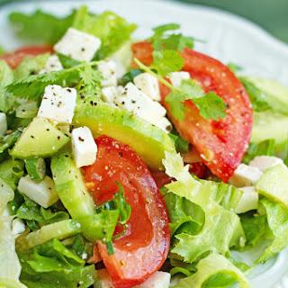 Tomato Cucumber Salad with Feta.
