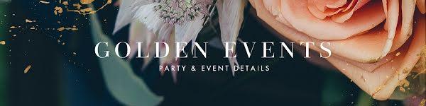 Golden Events Details - Etsy Shop Big Banner Template