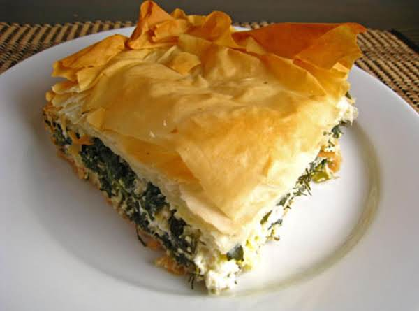 Spanikopita ( Greek Spinach And Cheese Pie ) Recipe