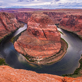 by Liqiang Huang - Landscapes Deserts ( horseshoe bend )