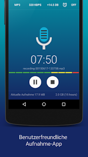 Hi-Q MP3 Recorder -Vollversion Screenshot