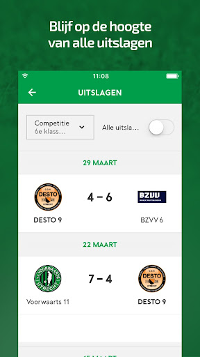 Voetbal.nl screenshots 2