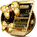 SMS Gold Butterfly Shining Keyboard Theme icon