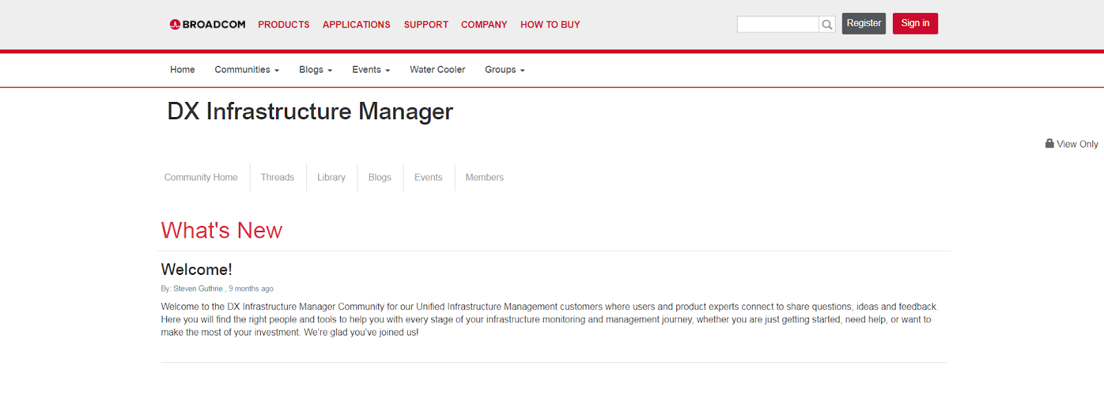 DX Infrastructure Manager