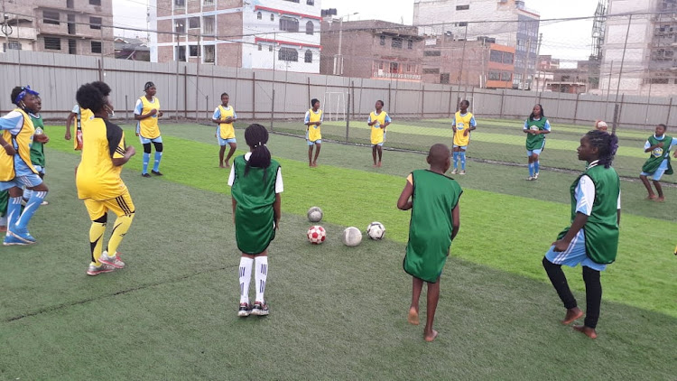 Anne Musyoka takes her players through the paces.