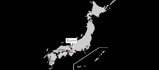 carte du japon kyoto tokyo