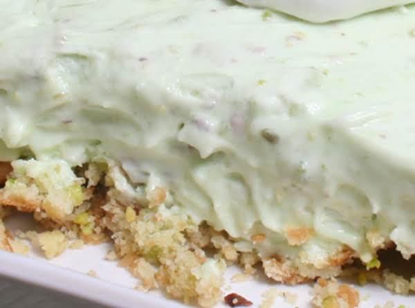 Pistachio Pudding Delight Squares