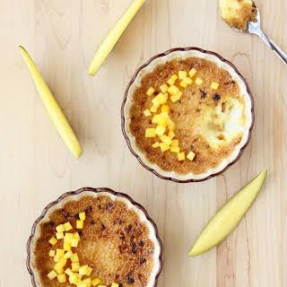 Passion Fruit-Mango Crème Brûlée.