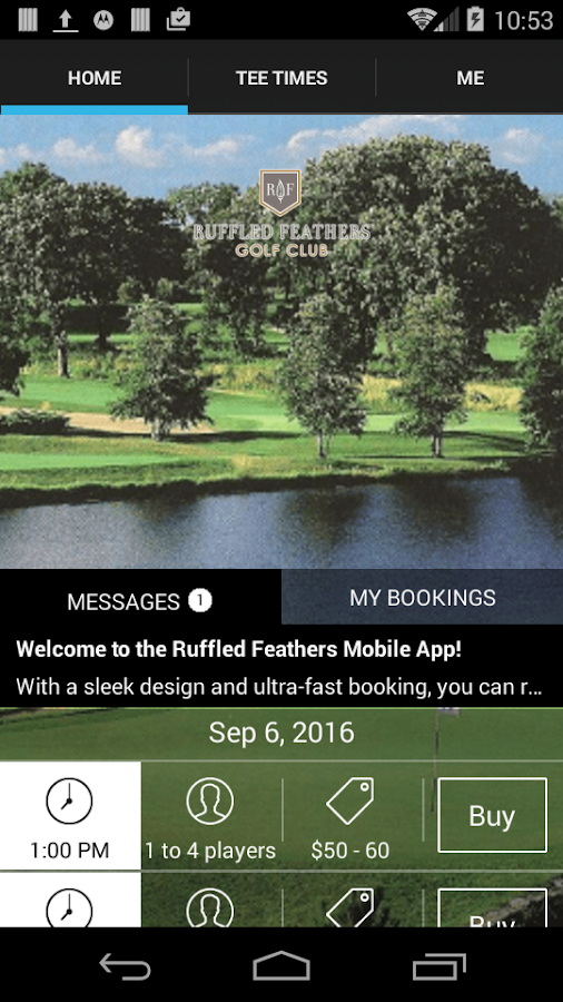 Ruffled Feathers Tee Times- screenshot