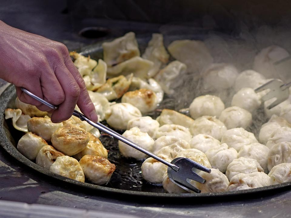 Dumplings, Dough, Filling, Oily, Hot, Chinese, Flour