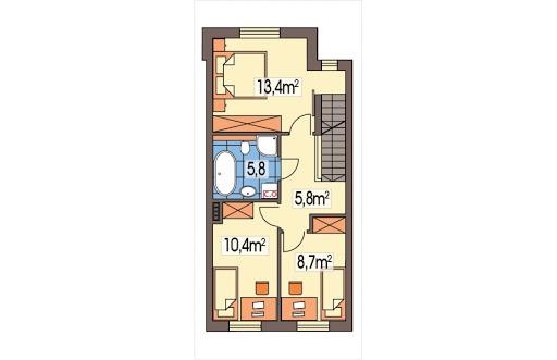 Kaja segment środkowy - Rzut piętra