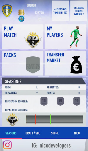 FUT 19 SEASONS + DRAFT SIMULATOR  screenshots 1