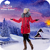 Snowfall Photo Editor : Snowfall Photo Frame