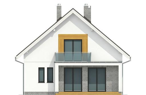 Dom Dla Ciebie 6 bez garażu B - Elewacja tylna