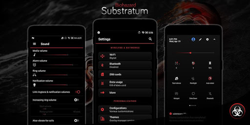 Biohazard Substratum Theme screenshot 12