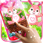 Cute bunny live wallpaper for android