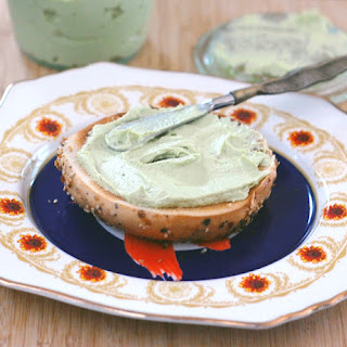 Garlic Herb Avocado Cashew Cream Cheese.