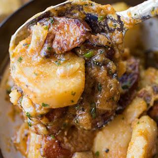 Saucy Hungarian Red Potato Goulash.