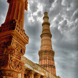 Qutub  by Akshay K - Buildings & Architecture Statues & Monuments ( qutub, minar, mehrauli, india, delhi )
