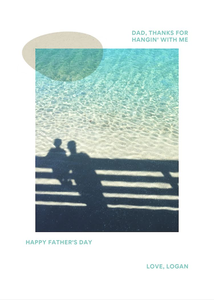 Thanks for Hangin' - Father's Day Card Template