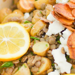 Mint + Lemon Lentil Potato Salad