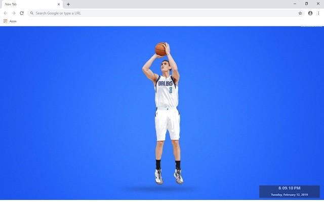 Dallas Mavericks NBA New Tab Theme