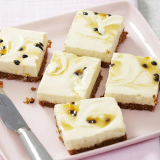 Lemon Passionfruit Cheesecake Bars
