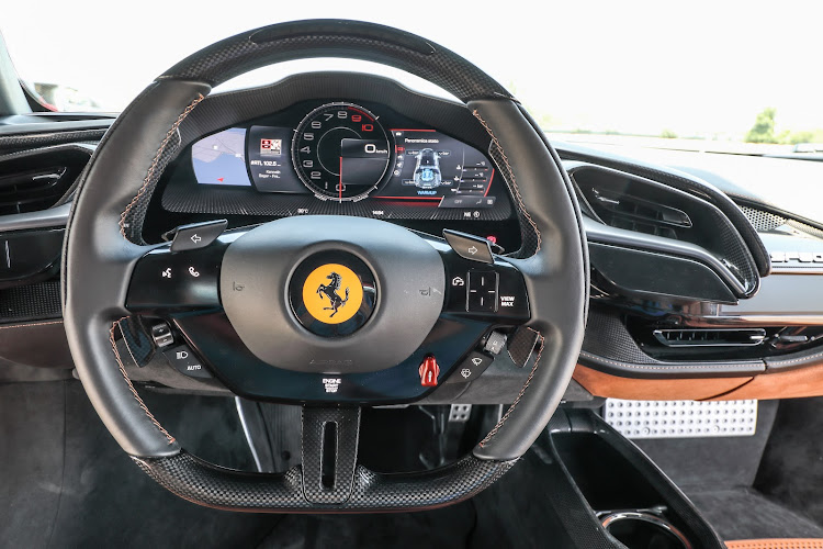 A curved, colour instrument cluster screen, complete with multiple view options and touch-style controls on the steering wheel. Picture: SUPPLIED