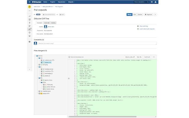 Bitbucket Diff Tree