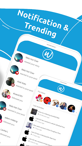 woooh timeline & messenger screenshot 2