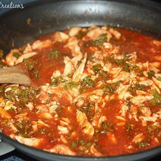 Kale Chicken with Ragu Rice