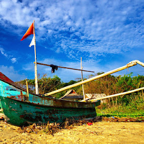 Sawarna's Boat by Taufiqurakhman Ab - Artistic Objects Other Objects