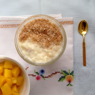 Creamy Rice Pudding Recipe with Coconut and Mango Recipe