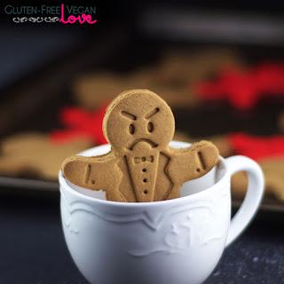 Gluten-Free Vegan Gingerbread Men Cookies