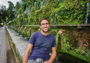 Photo: Daniele and the 100 Fountains (Cento Fontane) in Villa d'Este in Tivoli, Lazio, Italy