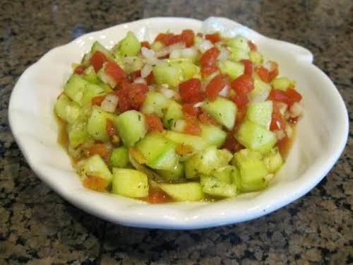 "Cucumber Salsa ""I don't like tomatoes but I love salsa. So I've..."