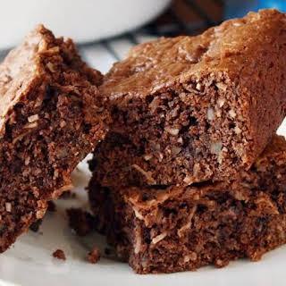 Loaded German Chocolate Cake Mix Brownies.