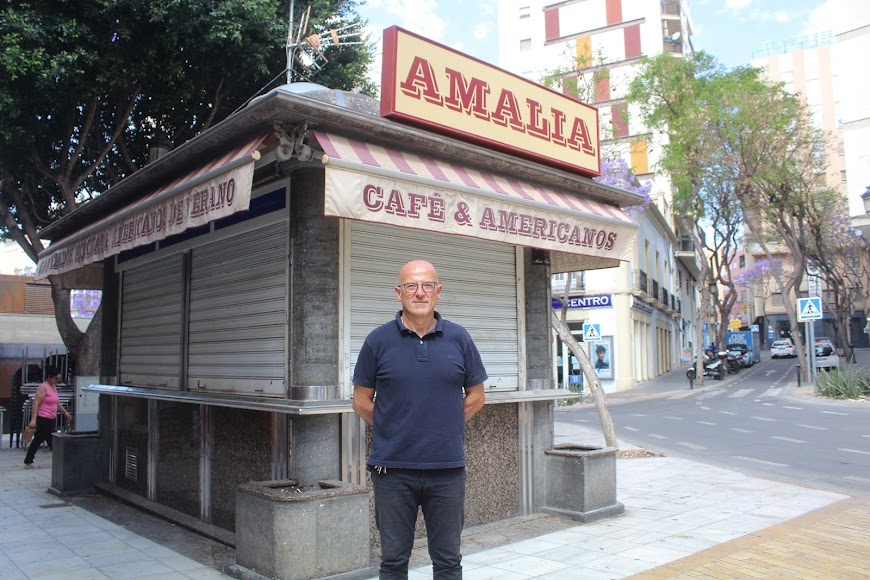 Kiosko Amalia, ubicado en Plaza Manuel Pérez García.