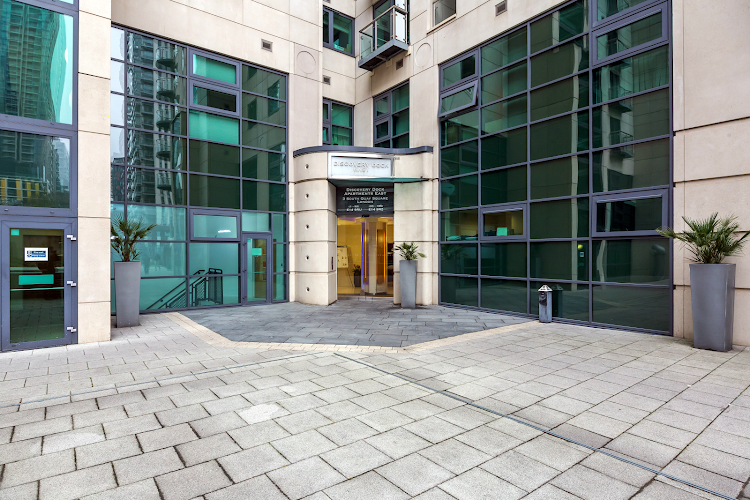 Entrance of South Quay Serviced Apartments, Canary Wharf