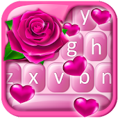 Pink Rose Valentine Keyboard