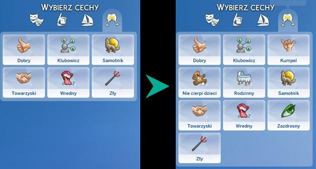 Sims 4 Trait mod - More CAS traits for Kids