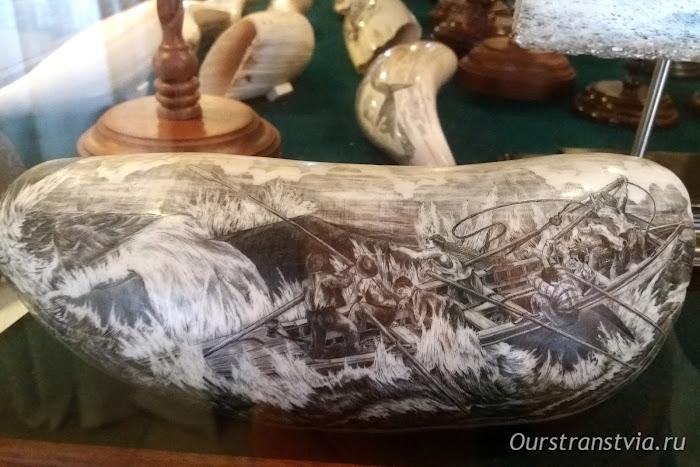 Музей изделий из китовой кости, гравировка, scrimshow, Фаял