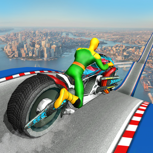 Moto Spider Vertical Ramp: Jump Bike Ramp Games