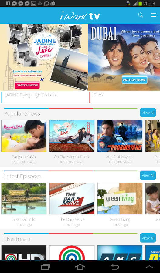 iWant TV- screenshot