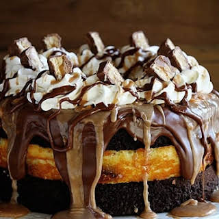 Snickers Cheesecake Cake.