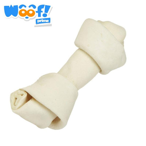 accesorio para mascotas woof hueso de carnaza