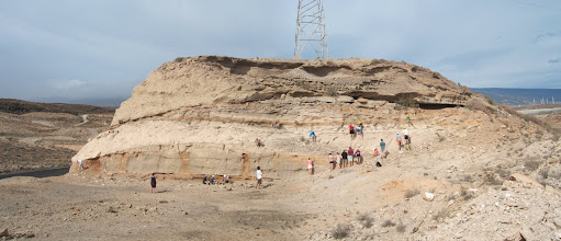 Photo: South-facing section at Tajao quarry.