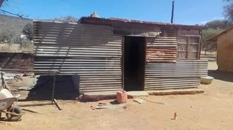 The one room shack that was home to the six Molokwane orphans before Moroeng intervened.