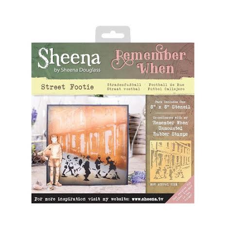 Sheena Douglass Remember When 8X8 Stencil - Street Footie UTGÅENDE